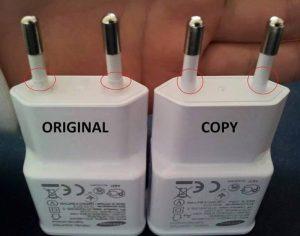 charger samsung asli dan palsu